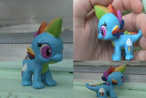 MLP-Rainbow Dash Spike (For Sale) by KrazyKari