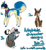 Character Adoptables: 2 by Zakeno