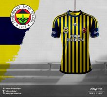 Fenerbahce 2013/14 Ince Cubuklu Forma Tasarimim-1 by Power-Graphic
