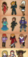 Acrylic Paint Chibis by BloodRed-Orchid
