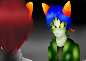 Nepeta and Karkat -No flushed feelings- by ornella09
