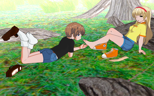 Cera Tickled By A New Friend  By Greendolphin24 by ninjakingofhearts