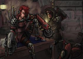 Cyborg Workshop by Dark-Emissary