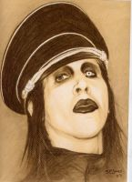 marilyn manson by charcoalking77