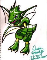 Happy Scyther by midori-no-ink