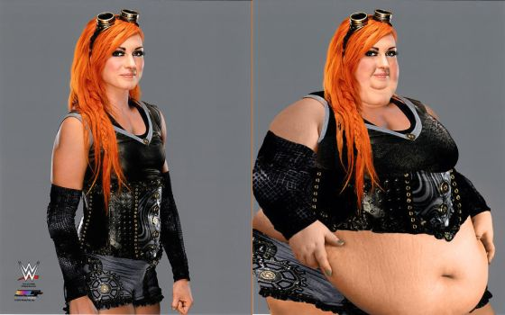 Becky Lynch Before and After by Cerebral-probe