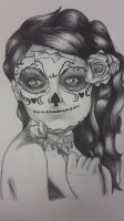 Inktober day 1: Catrina by Jime-From-SilentTown
