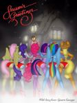 Equestria Christmas Carollers by SquareSausage
