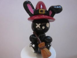 Polymer Clay Witch Rabbit by Darklunax110