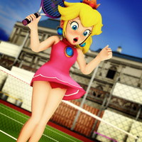 Princess Peach's Panty Peek by VirtuaBlueAM2