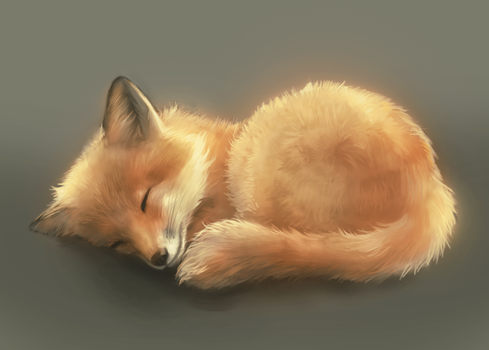 Little Fox - Twitch speedpaint by merkerinn