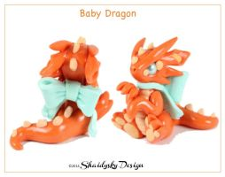 Orange Baby Dragon by ShaidySkyDesign
