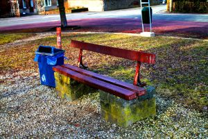 Public Bench and Trash by PythonIt