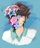 Flowers [Oikawa Tooru] by plaidcatcchi