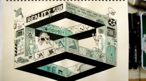 Escher cube study + doodles. by GuGa-GuGa