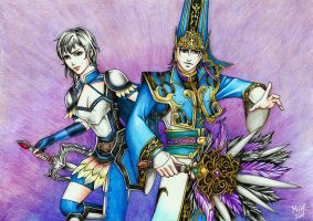 DW7 Wang Yi and Sima Yi by Grace-Zed
