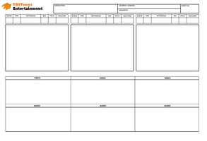 TDS Toons Entertainment: Blank Storyboard Template by terryrule17