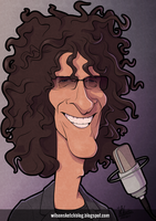 Howard Stern (Cartoon Caricature) by wilson-santos