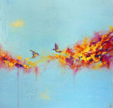 Another abstract hummingbird painting by meirou