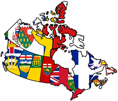 Canadian Provinces - Flag Map by HeerSander