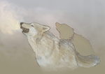Wolf Breathing - Doodle by White-Tean