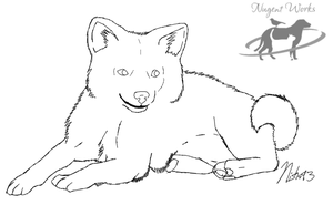 1. American Eskimo 'mini' by NishaBird