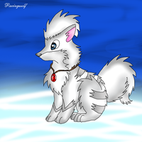 White Growlithe by racingwolf