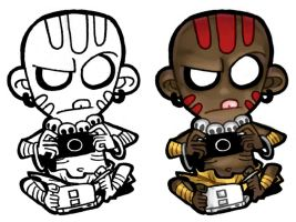 Chibi - Dhalsim + PSP + DS by ElectroCereal