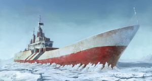 arctic desert shipwreck by dr-kelso