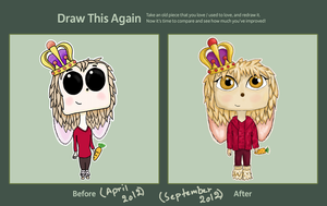 'Draw this again' entry! - Squaregurl by Put-Putt