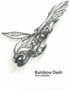 Dive-attacker Rainbow Dash by george5408