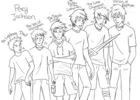 Percy Jackson through da years by Ara-bell