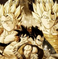 Vegeto and Gogeta by Momedd