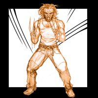 Wolvie sketchy by 133art