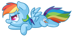 Rainbow Dash Derp by Zoiby