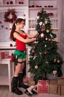 New Year's Lara Croft - decorating  by TanyaCroft