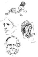 Wyeth Rockwell July sketches by ArtisticSchmidt