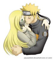 Naruto - Not on the lips by AquaWaters