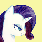Rarity Portrait (Free to Use) by HageIcons