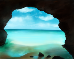 Mermaid Cave Study (Created using FREE software) by karma12gaming