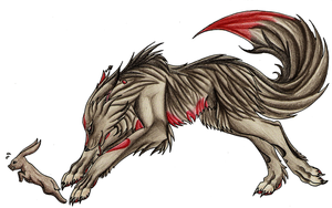 nastalgia wolf form by Ashenee