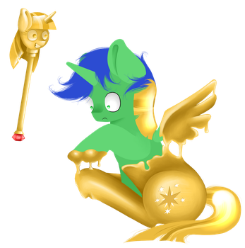 Request: Another one bites the gold by Lucky-Jacky