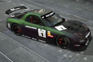 Gran Turismo 5 RX 7 Race Car (picture 2) by Worlds-of-Danger