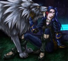 Lycentia and Snow by sadrlegends