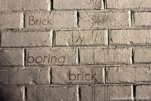 Brick by boring brick. by blubooelle