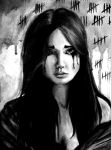 Brunette Black and White by 3ampainter
