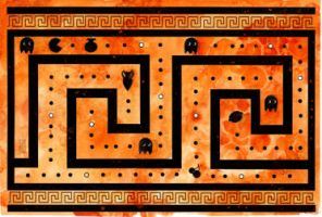 Greek Key Pacman by dancingheron