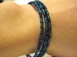 Pure Color Navy Blue Teal by Slersk
