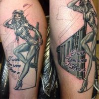 Ruslan Black And Grey Pinup by HammersmithTattoo