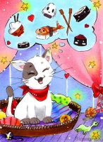 ACEO Sushi lover by SimonneX